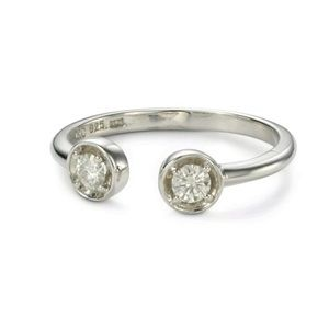 Forever Classic Round 3.25mm Moissanite Two Stone